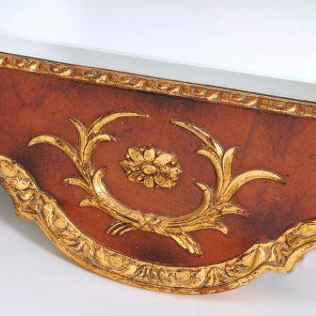 Traditional Mid 20th Century Federal Style Parcel Gilt Mahogany Mirror For Sale - Image 3 of 8