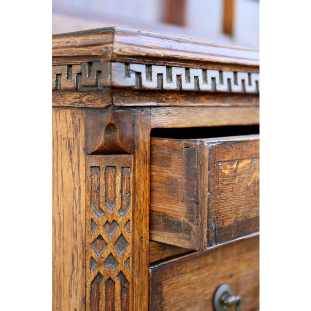 George III Oak And Inlaid Cupboard/ Dresser For Sale - Image 5 of 10