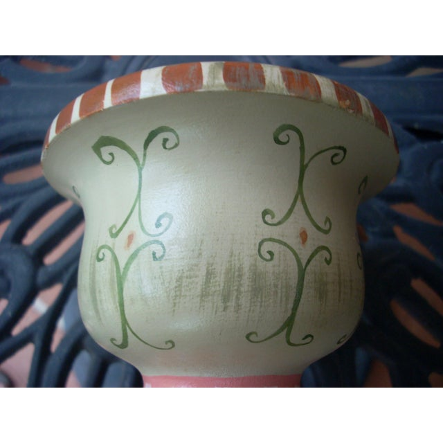 Stonehouse Farm Goods Hand Painted Candlesticks - a Pair For Sale - Image 4 of 7