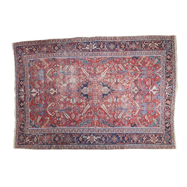 "Distressed Heriz Carpet - 8' X 11'2"" - Image 1 of 10"