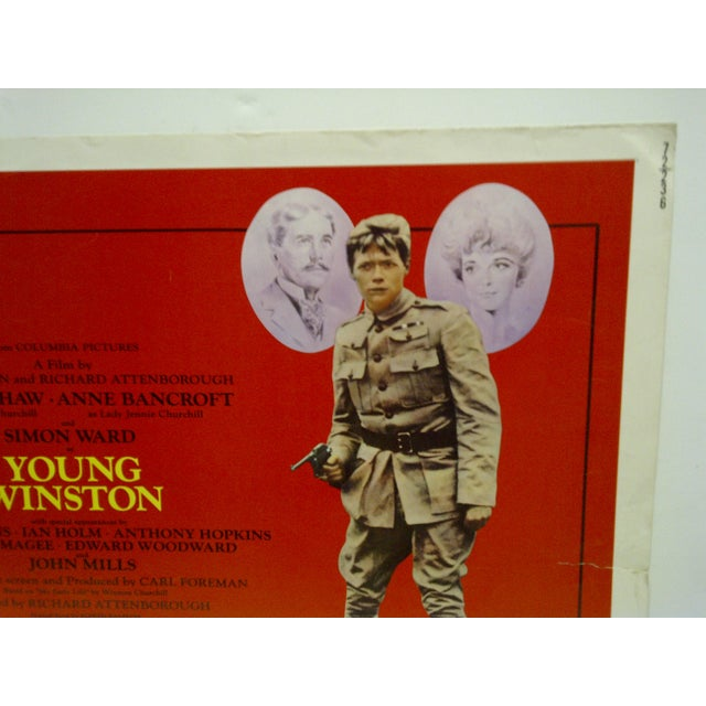 """American 1972 Vintage """"Young Winston"""" Movie Poster For Sale - Image 3 of 4"""