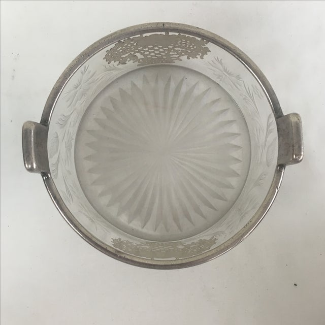 Vintage Silver Overlay Flower Basket Ice Bucket For Sale - Image 3 of 4