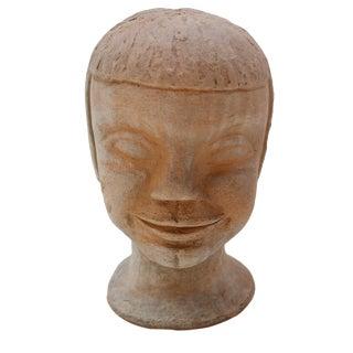 Vintage Studio Pottery Head Bust For Sale