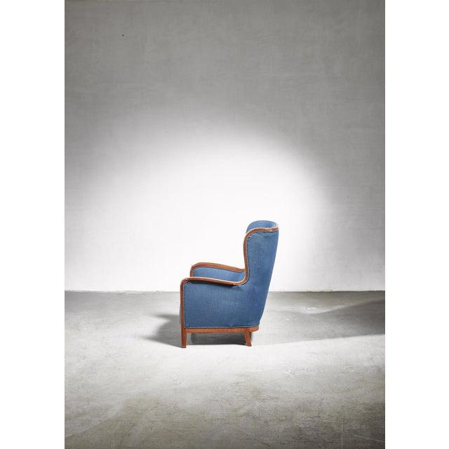 Frits Henningsen Frits Henningsen Wingback Chair, Denmark, 1940s For Sale - Image 4 of 7