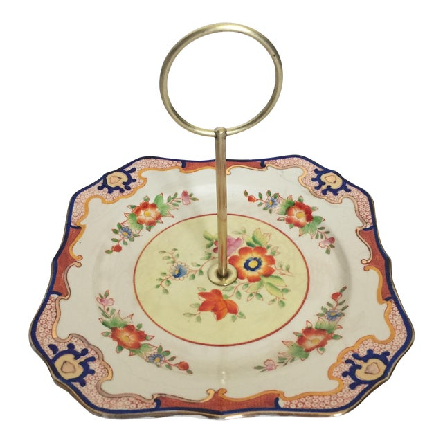 Square Imari Style Candy Dish For Sale