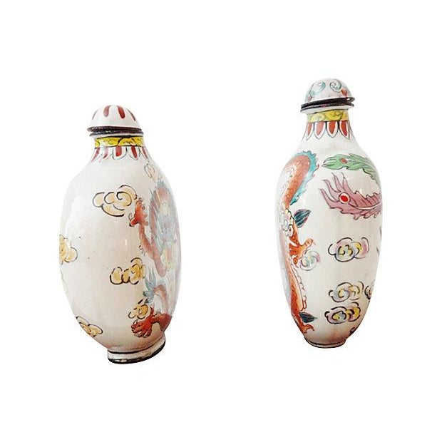 Chinese Dragon Snuff Bottles- A Pair - Image 4 of 7