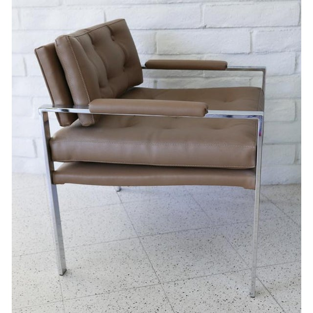 Milo Baughman for Thayer Coggin Lounge Chairs - Pair For Sale In Palm Springs - Image 6 of 7
