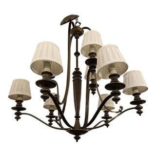 Hinkley Lighting Nine Light Dunhill Chandelier For Sale
