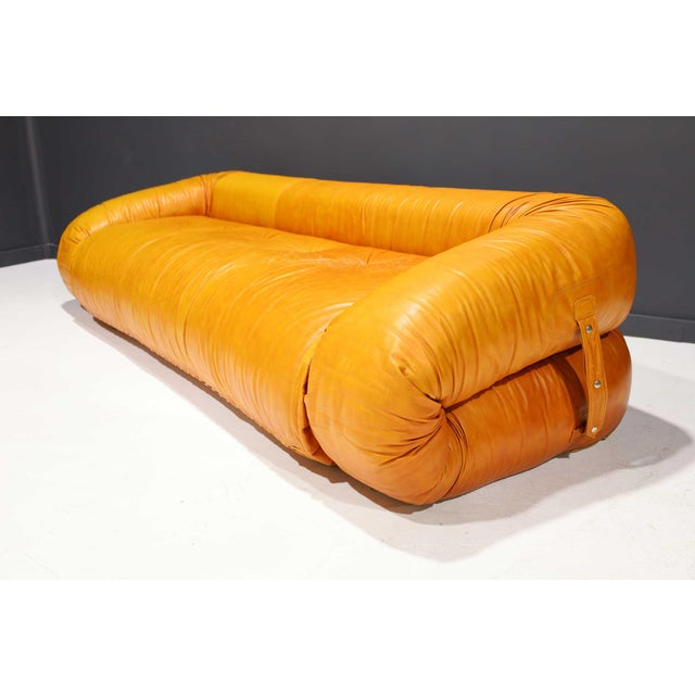 Leather Anfibio Sofa Bed by Alessandro Becchi for Giovannetti Collezioni, 1970s For Sale - Image 13 of 13