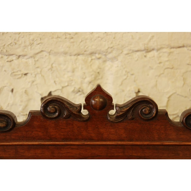 Vintage Carved Mahogany Sideboard Buffet - Image 7 of 8