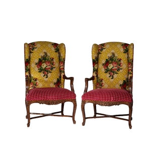 Custom Fremarc Armchairs Pierre Frey Fabric For Sale