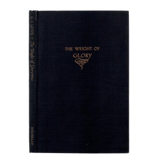 """1949 """"First Edition, the Weight of Glory"""" Collectible Book For Sale"""