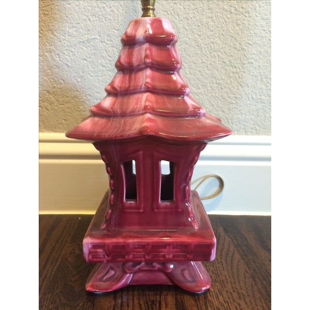 Haeger Haeger Pagoda Lamp For Sale - Image 4 of 9