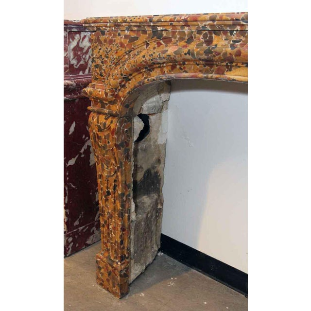 French French Louis XIV Breche D'alep Marble Mantel For Sale - Image 3 of 6