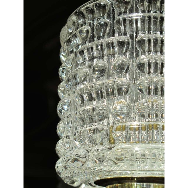 Large-Scale Swedish Chandelier With Cut Crystal Shades by Orrefors For Sale In San Francisco - Image 6 of 6