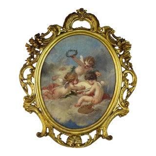 Fine 19th Century Putti Allegory of the Arts For Sale