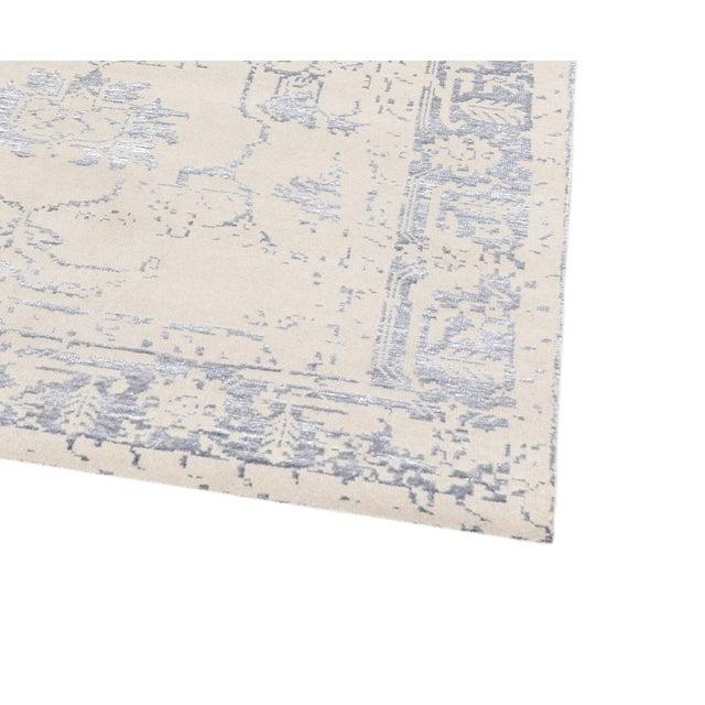 Pasargad Silk Fusion Silk & Wool Rug - 4′ × 6′ - Image 3 of 5