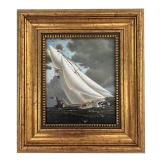Framed Petite Sailing Ship Painting