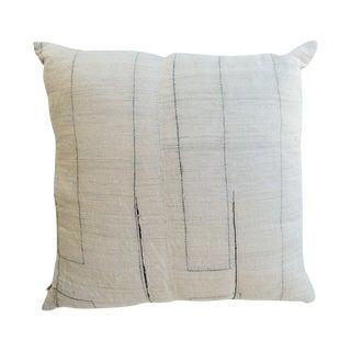 Vintage Hand Woven Hemp Pillow For Sale