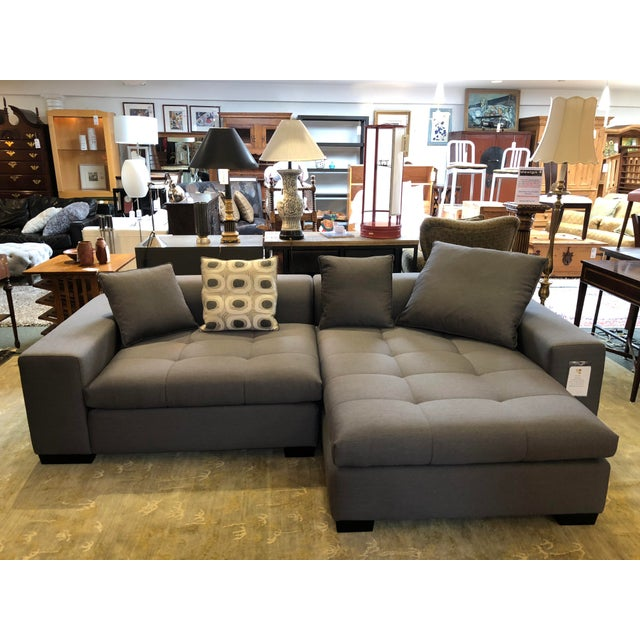 Design Plus Gallery presents the Eureka Sectional by Della Robbia. This two piece invites lounging, with soft tufting,...