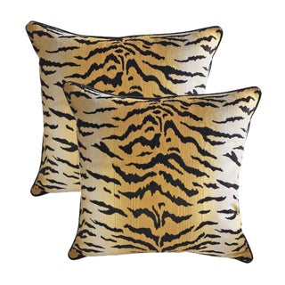 Sutherland Velvet Tiger Accent Pillows - A Pair