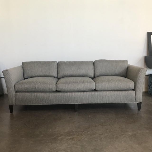 1970's Mid-Century Modern Drexel Heritage Newly Upholstered Gray Sofa For Sale In Indianapolis - Image 6 of 6
