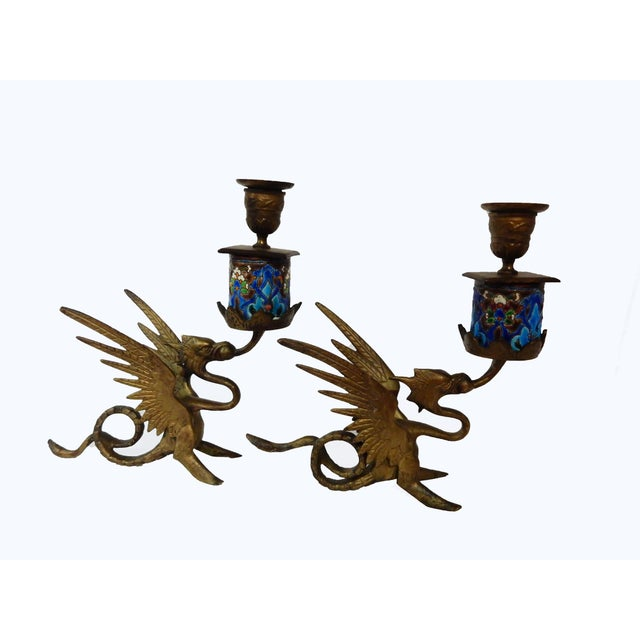 French Gothic Gargoyle Candle Holders - A Pair - Image 3 of 7