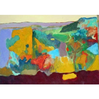 """""""Red Week"""" Contemporary Abstract Oil Painting by Ann Cameron McDonald For Sale"""