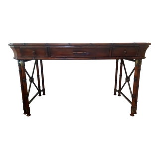 Hooker Furniture Seven Seas Collection Faux Bamboo Desk For Sale