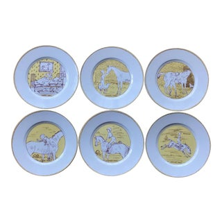 Vintage Hermès 6-Piece Dinner Plate Set