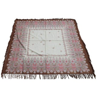 19th Century Paisley Shawl in Muted Colors For Sale