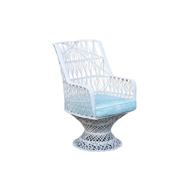 Fiberglass Kravet Upholstered Russell Woodard Spun Fiberglass Patio Dining Set For Sale - Image 7 of 13