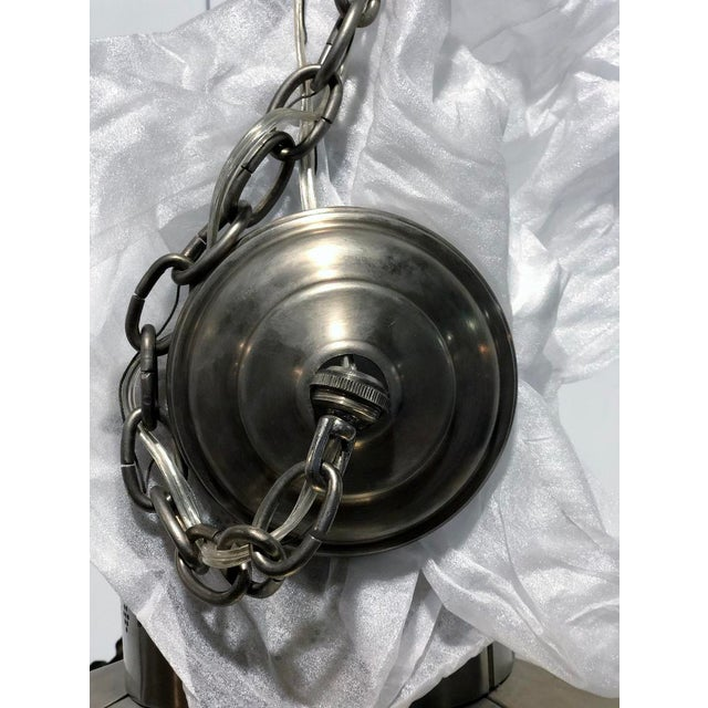 Ann Morris Groves Lantern in Oxidized Brushed Nickel Finish For Sale In Los Angeles - Image 6 of 13