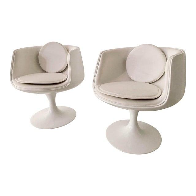 Eero Aarnio Vintage Eero Aarnio Space Age Cognac Chairs- a Pair For Sale - Image 4 of 4