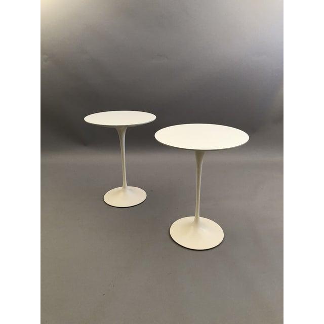 Plastic Pair of Saarinen Tulip Tables For Sale - Image 7 of 7