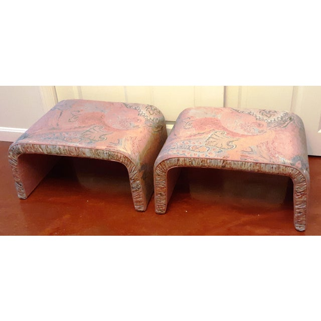 Waterfall Benches- a Pair For Sale In Boston - Image 6 of 13