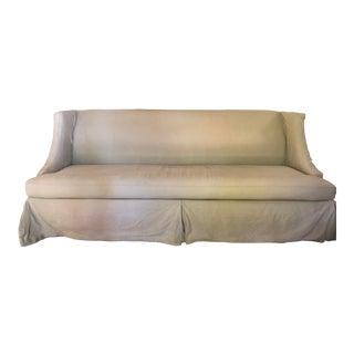 Lee Industries Slipcovered Linen Sofa For Sale