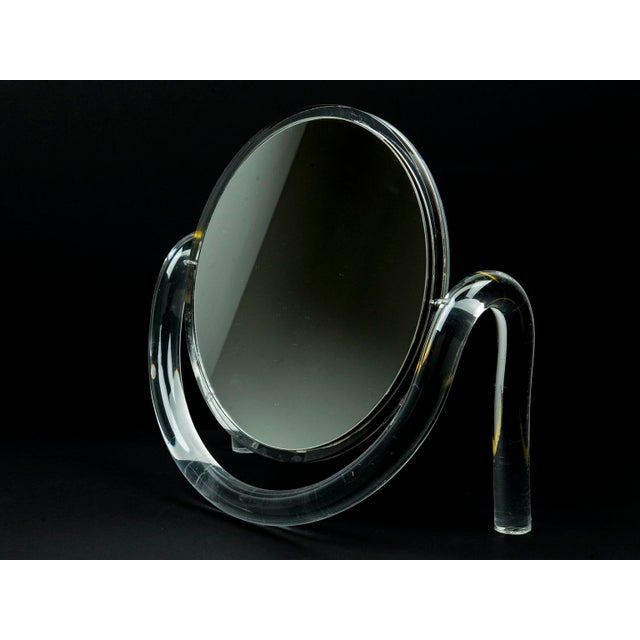 Mid Century Modern Dorothy Thorpe Lucite Tabletop Make-Up Mirror - Image 5 of 6