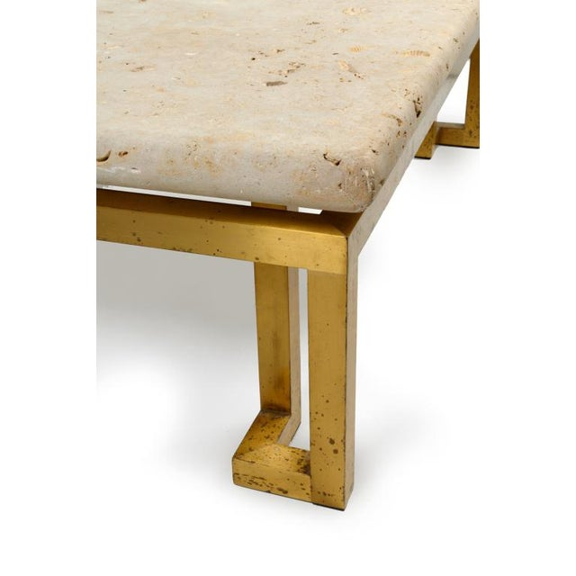 1970s Fossilized Stone Top Cocktail Table after Lorin Marsh For Sale - Image 5 of 7