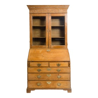 Antique George III Bureau Bookcase For Sale