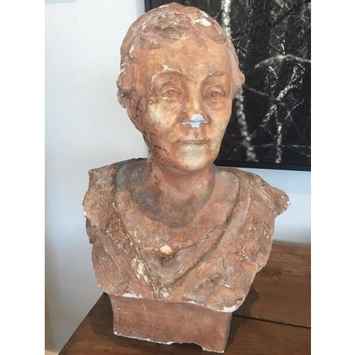 Terra Cotta Bust, Early 20th Century For Sale - Image 10 of 10
