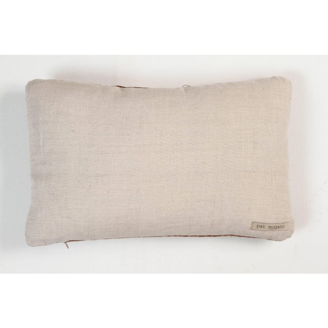 Contemporary Indian Handwoven Pillow Ocean Stripe Warm For Sale - Image 3 of 4
