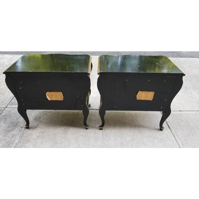 Union National Furniture Co Vintage Bombay Style Night Stands-A Pair For Sale - Image 10 of 13