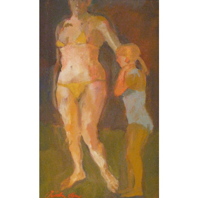 """Oil Paint Fry Oil Painting """"Negotiation"""", Contemporary Figurative Scene For Sale - Image 7 of 7"""