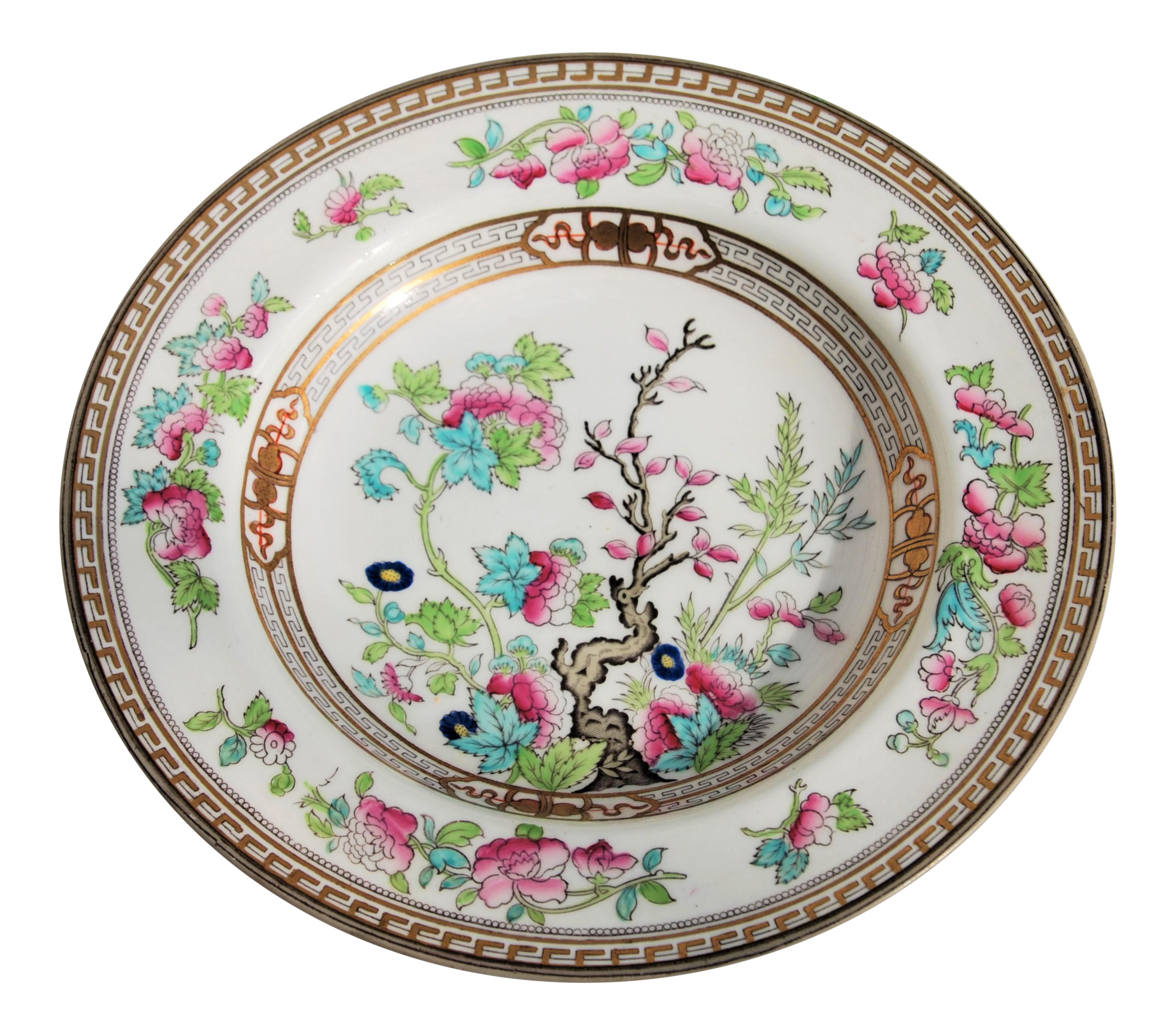 Royal Doulton for Wells Burrage Co \ Dresden\  Bowl in Indian Tree Design  sc 1 st  Chairish & Royal Doulton for Wells Burrage Co \