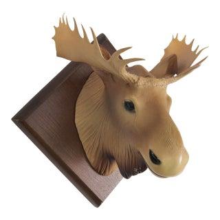 Vintage Souvenir Moose Head Plaque For Sale