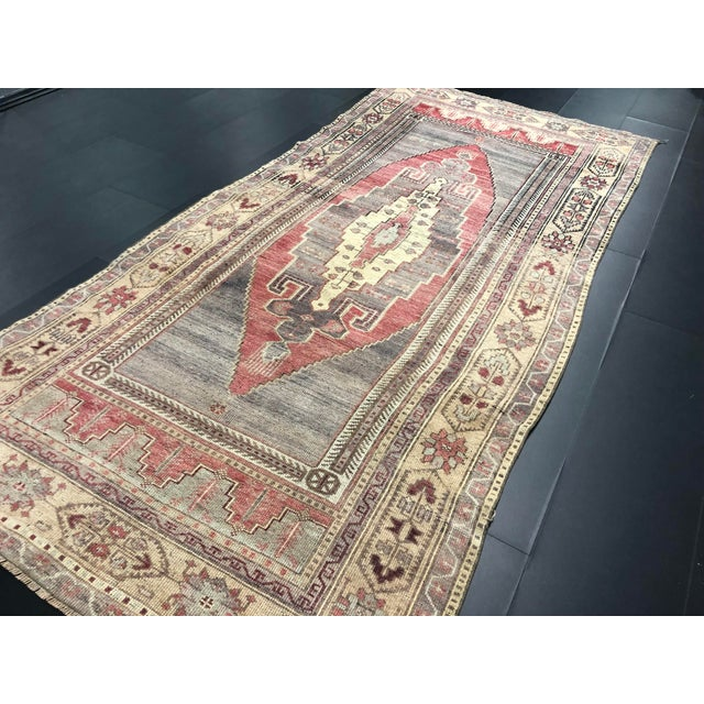 Textile Faded Turkish Oushak Traditional Rug-4'6'x9'6' For Sale - Image 7 of 11