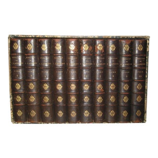 Late 19th Century French Leather Books - Set of 10 For Sale