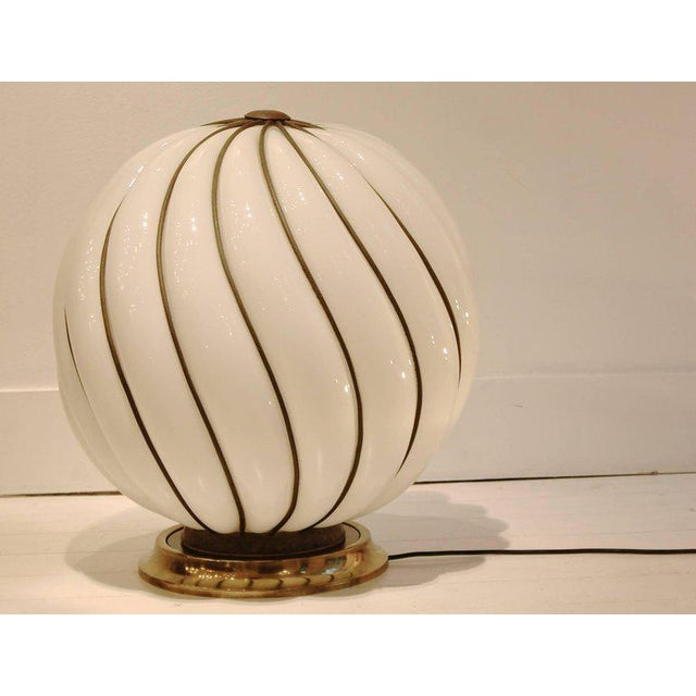 Metal Glamourous 1970s Spheric Murano Glass Table Lamp For Sale - Image 7 of 7
