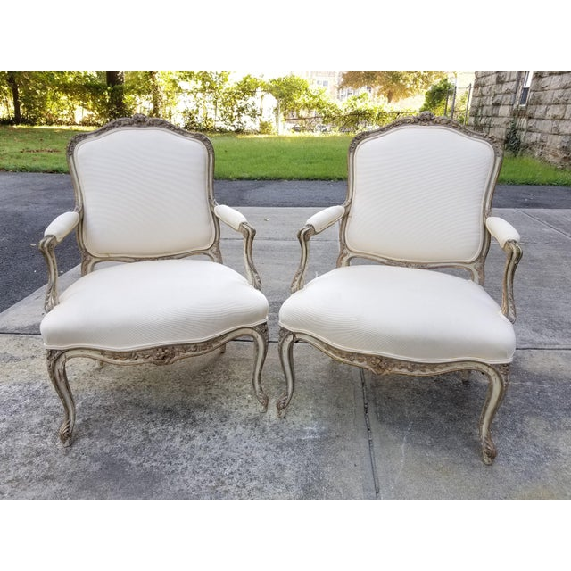 Vintage French Louis XV Style Armchairs - a Pair For Sale - Image 11 of 11